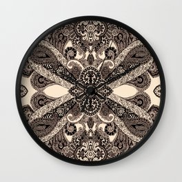 paisley shield Wall Clock