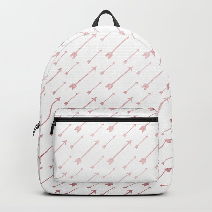 Simply Arrows in Rose Gold Sunset Backpack