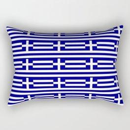 flag of greece 2-Greece,flag of greece,greek,Athens,Thessaloniki,Patras,philosophy,theater,tragedy Rectangular Pillow