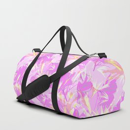 Bird of Paradise, Cosmos and African Daisy-Pink Duffle Bag