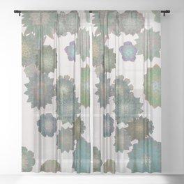 Succulent Spiral Sheer Curtain