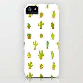 Mind-calming cactuses iPhone Case