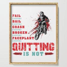 Never Quitting Motocross Dirt Bike Serving Tray