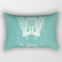 Lyrebird (eggshell blue) Rectangular Pillow