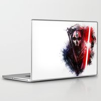 darth Laptop & iPad Skins featuring Darth Nihilus by Vincent Vernacatola
