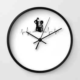 Woodturning Heartbeat Carpenter Woodworking Wall Clock
