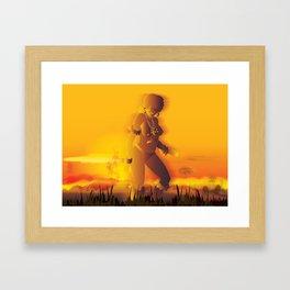 Sunset dance Framed Art Print