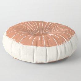 Abstract terracotta Sun  Floor Pillow