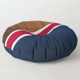 Wooden New England Floor Pillow