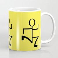 run Mugs featuring Run by Beautiful Artworks