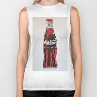 coca cola Biker Tanks featuring Coca-Cola by Marta Barguno Krieg