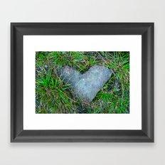 stoned heart Framed Art Print