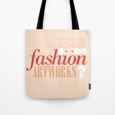 Boobs on fashion. A simple question. Tote Bag