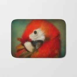 Red Scarlet Macaw Parrot Bath Mat