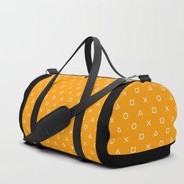 Orange Gamer Pattern Duffle Bag