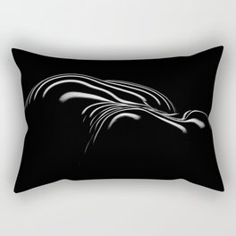 0694- Nude Female Naked BBW Geometric Black White Naked Body Big Abstracted Sensual Sexy Erotic Art Rectangular Pillow