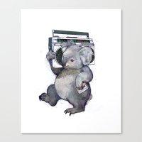 koala Canvas Prints featuring koala  by Laura Graves