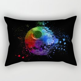 StarWars Death Star Abstract Colorful Digital Painting Rectangular Pillow