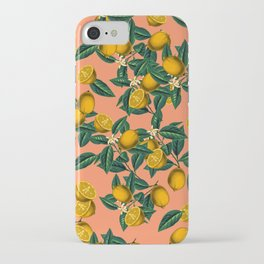 Lemon and Leaf iPhone Case