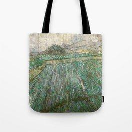 Vincent Van Gogh Wheat Field In Rain Tote Bag