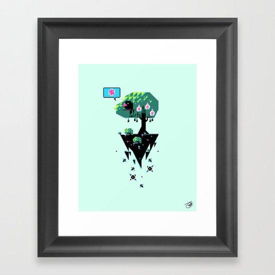 Greedy Grackle Framed Art Print