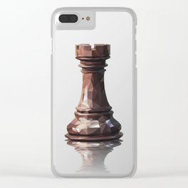 rook low poly Clear iPhone Case