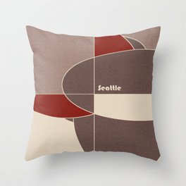 Seattle Mosaic Throw Pillow