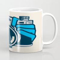 cheese Mugs featuring Cheese by Sei Rey Ho