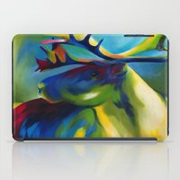 elk iPad Cases featuring Elk by mynameiselena