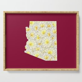 Arizona in Flowers Serving Tray
