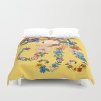 sleeping beauty Duvet Covers featuring Sleeping Beauty by Shelley Ylst Art