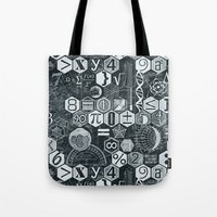 blankets Tote Bags featuring Math Class by Chicca Besso