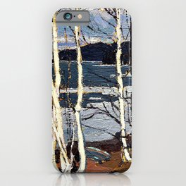 Tom Thomson - Spring in Algonquin Park - Digital Remastered Edition iPhone Case