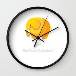 OH! THE HUE-MANATEE! FUNNY T SHIRT Wall Clock