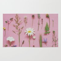 cassia beck Area & Throw Rugs featuring Wild Flowers by Cassia Beck