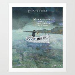 Bryan's Ferry Art Print