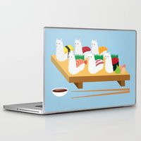 alpaca Laptop & iPad Skins featuring Alpaca Sushi by Inappropriately Adorable