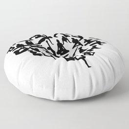 yoga heart Floor Pillow