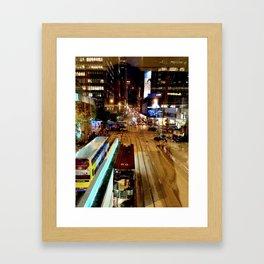 Citylights Framed Art Print