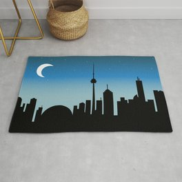 Toronto Skyline - Night Rug