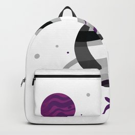 Asexual Space Planet Tee Backpack