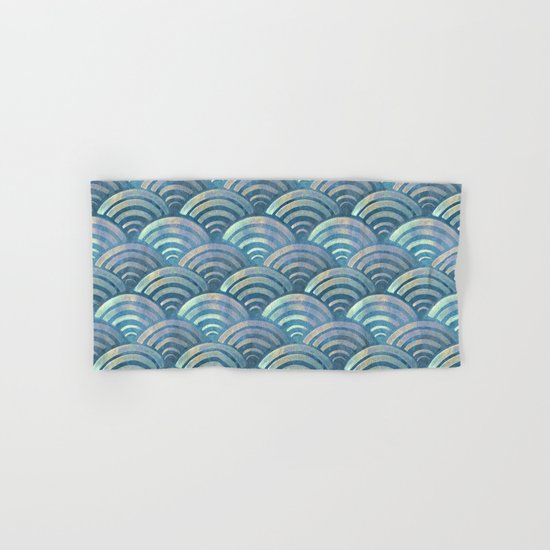 Colorful fish scales pattern Hand & Bath Towel