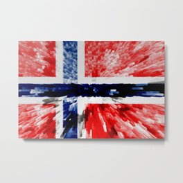 Extruded Flag of Norway Metal Print