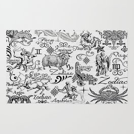 ZODIAC CANVAS CALLIGRAPHY Rug