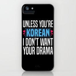 K-Drama Fan iPhone Case