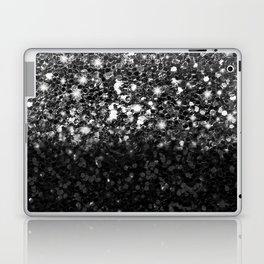 Black & Silver Glitter Gradient Laptop & iPad Skin