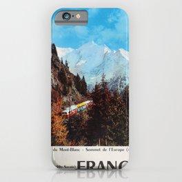 old poster Travel poster France Le Tramway du Mont-Blanc Saint-Gervais The-Savoie Fumex iPhone Case