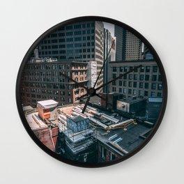 Downtown X-ing Wall Clock