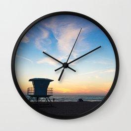 Sunset Over California Wall Clock