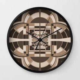 Brown Geometric Abstract Wall Clock